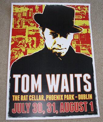 TOM WAITS concert gig poster DUBLIN 2008 tour Ireland swordfishtrombone