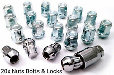 21pc alloy wheel locking nuts bolts- for Ford. M12 x 1.5 19mm Hex Taper