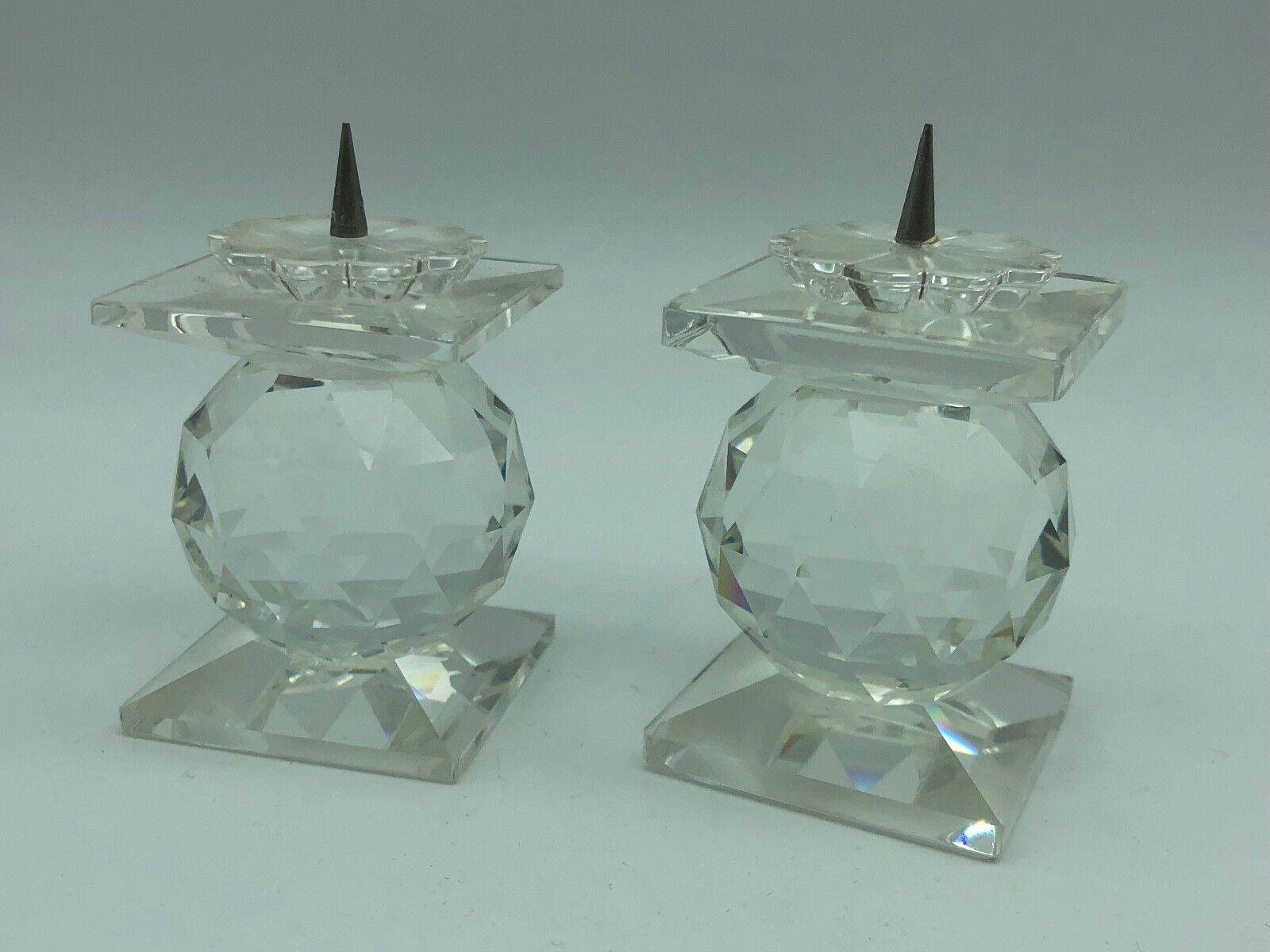 Swarovski 2x Kerzenständer Kerzenständer Kerzenständer 7 cm. Top Zustand 68bbb0