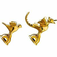 Alessi Limited Edition Michael Graves Brass Bird & Dragon Tea Kettle Whistle Set