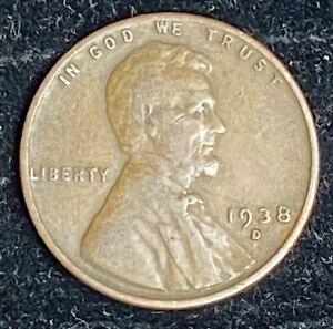 1939 D Lincoln Wheat Penny Free Shipping