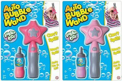 Auto Star Bubble Wand With Filler Solution ~ Colour Vary