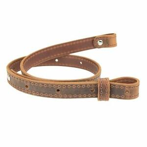 Buffalo-Hide-Leather-Rifle-Gun-Sling-Crazy-Horse-Brown-Amish-Handmade-1-034-Wide