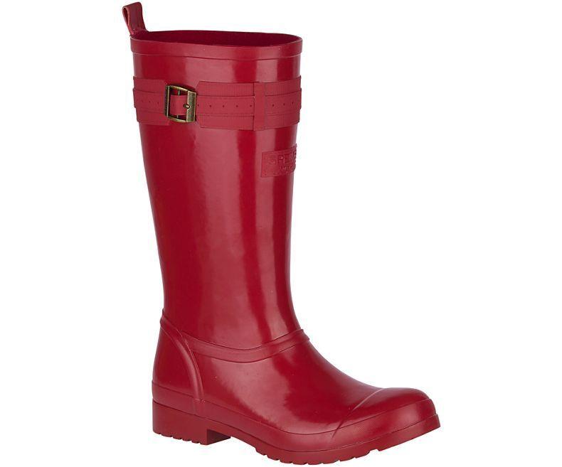 Sperry mujer Walker Atlántico botas de Lluvia Rojo, elige un tamaño