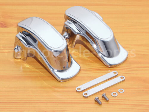 Chrome Rear Frame Axle Covers for Harley Dyna Super Glide FXDL Fat Bob 2006-2017