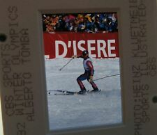 ALBERTO TOMBA ITALY 1992 Winter Olympics giant slalom ORIGINAL SLIDE 2