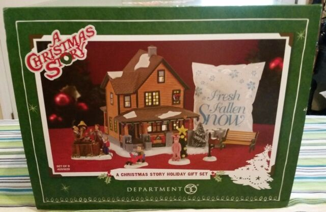 dept 56 a christmas story 9 piece holiday gift set ralphie lamp new 4051629 rare