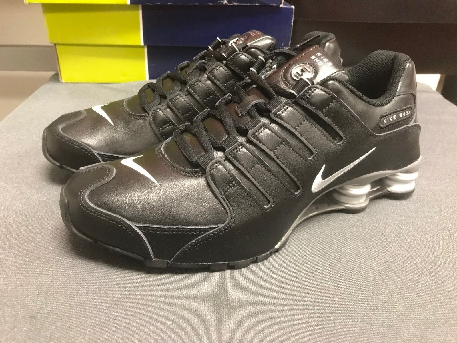 Mens Nike ID Shox NZ Premium Sneakers New, Black Gray Silver 616117-981 SKU New shoes for men and women, limited time discount