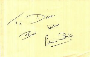ENGLISH ACTRESS PATRICIA BRAKE HANDSIGNED 6 x 4 AUTOGRAPH ALBUM PAGE - <span itemprop='availableAtOrFrom'>Weston Super Mare, Somerset, United Kingdom</span> - If the item you received has in any way been wrongly described or we have made a mistake regardless of the nature we will pay your return postage costs. If however the - <span itemprop='availableAtOrFrom'>Weston Super Mare, Somerset, United Kingdom</span>