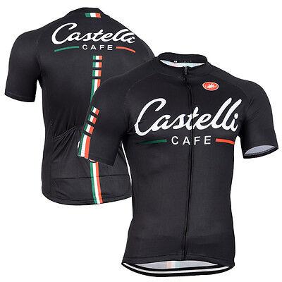 Mens Fashion Cycling Jersey Gear Short Sleeve Bike Shirt Outfits Maillot Garment