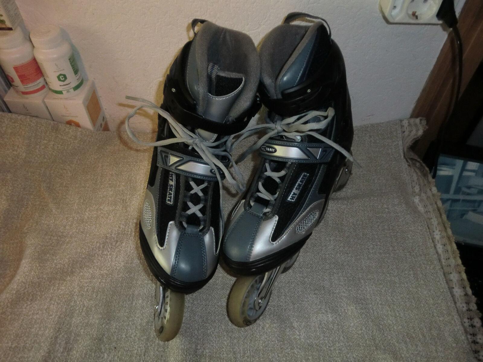 Rollerskates Rollschuhe Inliner HY-SKATE Alu ABEC-7, Gr 42, 26,5 cm, nwtg  (42)