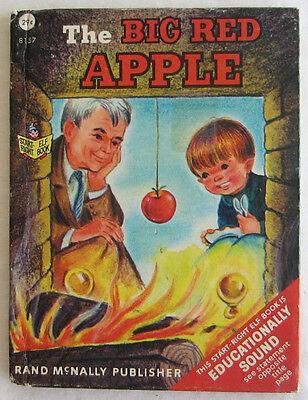 THE BIG RED APPLE ~ Vintage Children's Rand McNally Junior Start Right Elf Book