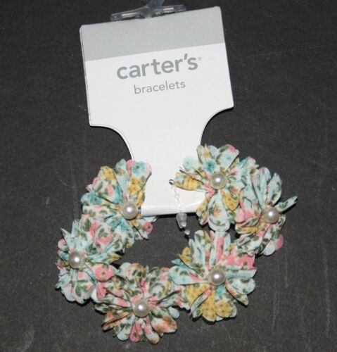 New Carter/'s Floral Pearl Stretch Bracelet NWT Jewelry Accessory One Size Girls