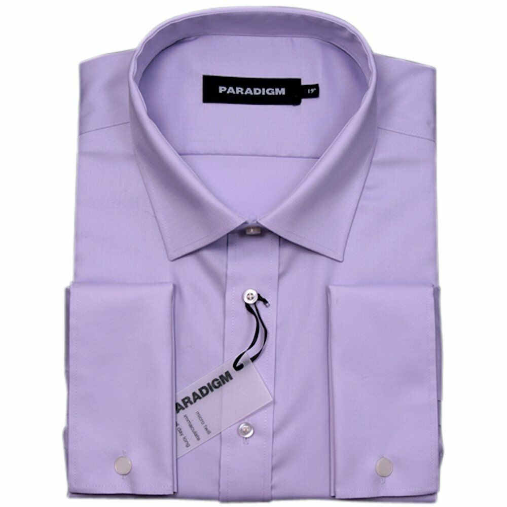 Paradigm Pure Cotton Non-Iron DC Formal Shirt Lilac - 19.5   | Attraktiv Und Langlebig