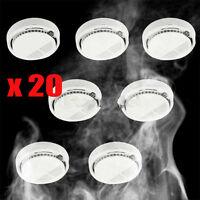 Lot20 Wireless Home Security Smoke Detector Fire Alarm Sensor System Cordless Ub