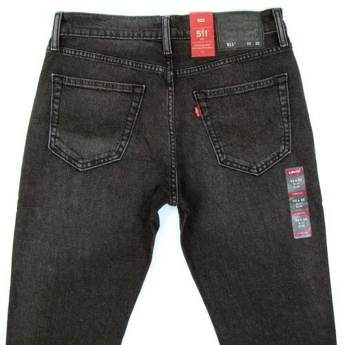 Levis Taille 33 Stretch 32 Levi's Foncé 511 Coupe Jeans 886878465598 Gris Nwt X Slim UqS6Urw