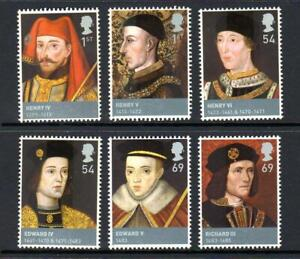 2008 HOUSES OF LANCASTER & YORK Kings & Queens Stamp Set MNH SG2812-2817 GB
