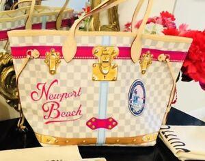 NEWPORT BEACH Louis Vuitton Summer Trunks Damier Azur NEVERFULL Bag ... 0c0c2df3d866a