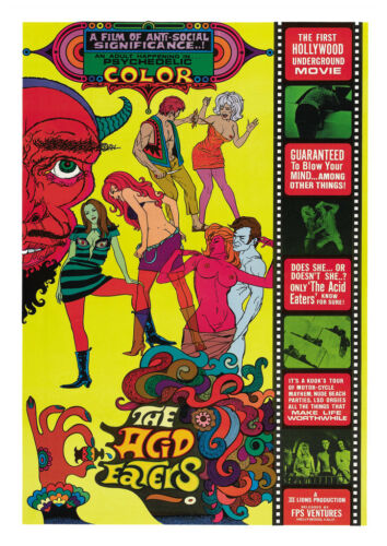Acid Eaters Old Movie Poster reproduction