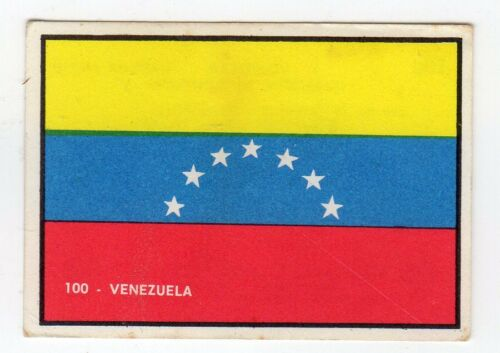 figurina PANINI BANDIERE DI TUTTO IL MONDO NEW numero 100 VENEZUELA