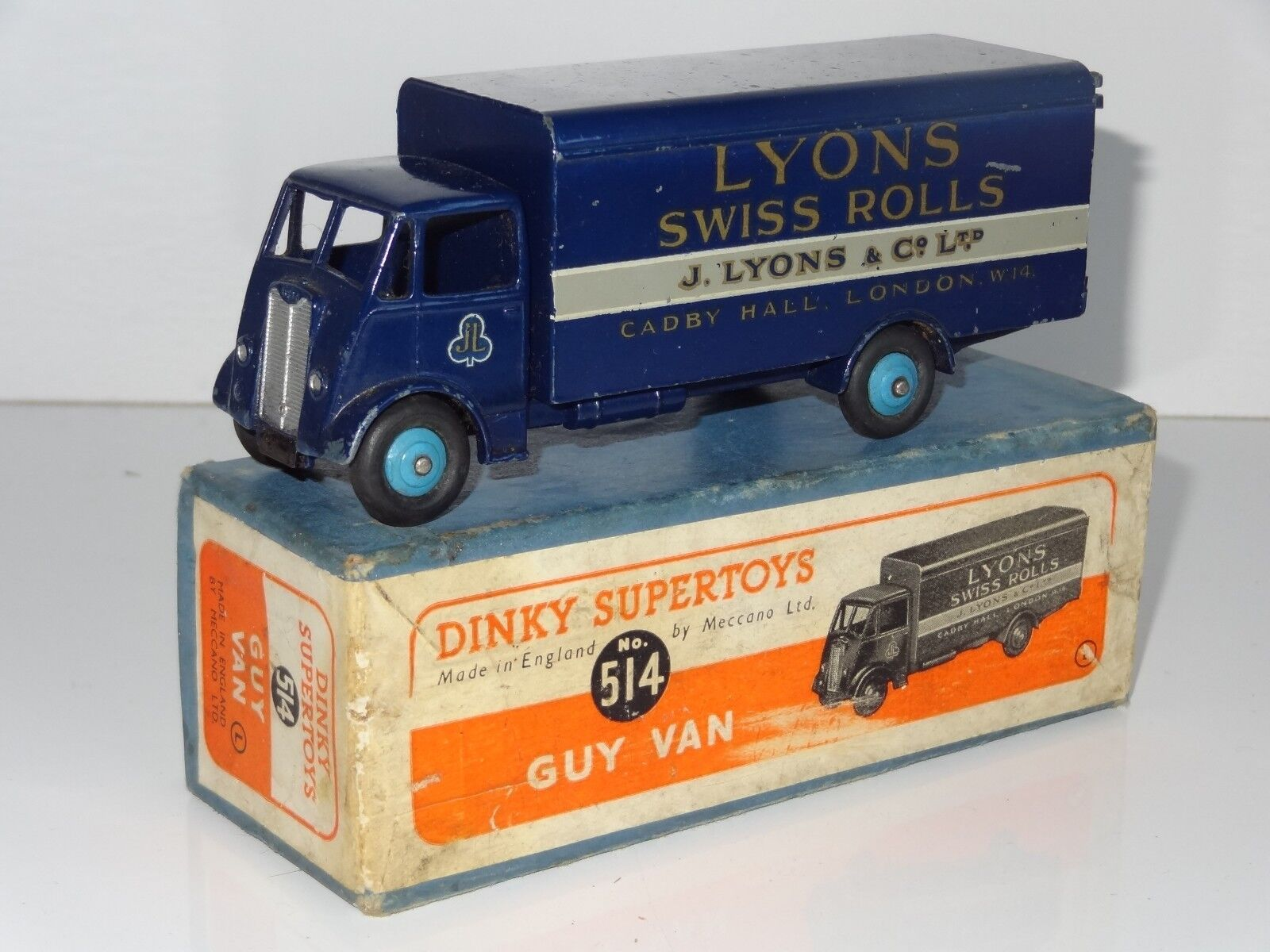 (V) dinky GUY LYONS SWISS ROLLS VAN -  514