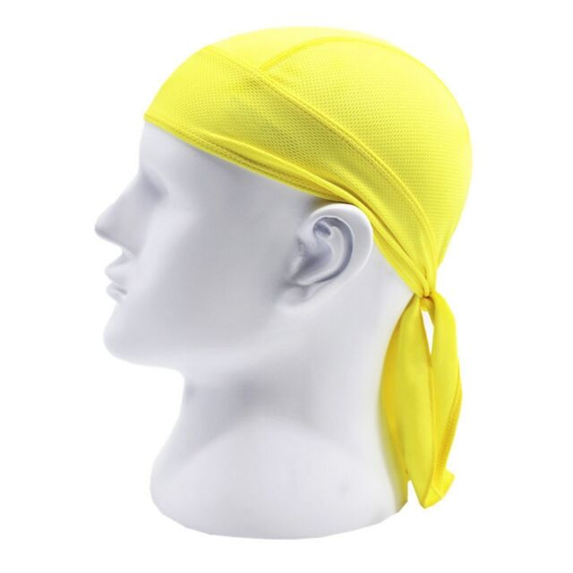 Quite Amazing Solid Tied Back Doo Rag Biker Skull Cap Du Rag Hat 2017 Summer