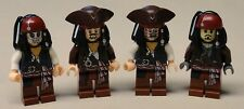 x4 NEW Lego Jack Sparrow Minifigs Pirates of the Caribbean 4195 4194 4183 4181