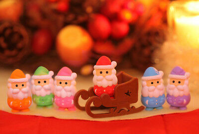 Rubber IWAKO Japanese Christmas Puzzle Eraser Santa or Sleigh You Choose.
