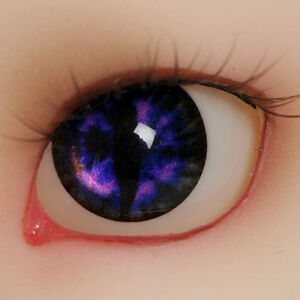 CE-09 OMeta Half Round Acrylic Eyes BJD Acrylic cat ooak  12mm