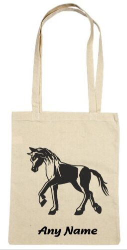 Personalised Pony Natural Tote//Shoulder Bag *Choice Of Colours*