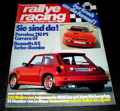 Porsche Carrera Gt Triumph Tr7 Drophead Rallye Racing 07/80 Renault R5 Turbo