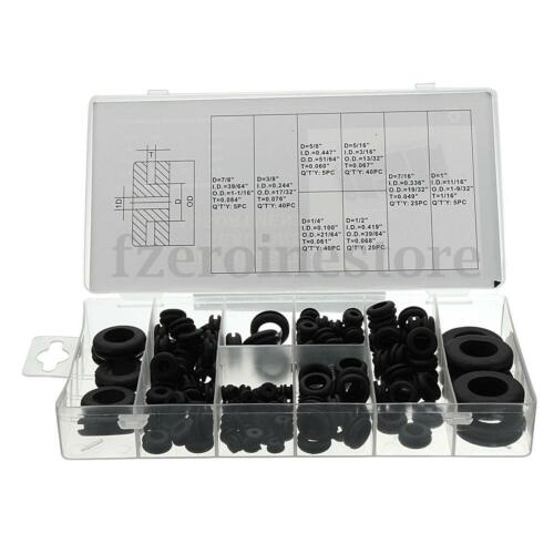 180pcs Rubber Grommets Assortment Set Open Blanking Hole Wiring Cable Gasket