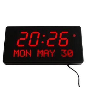Multi-Led-Numerique-Horloge-Murale-avec-Affichage-de-Date-Alarme-Grande-Rouge