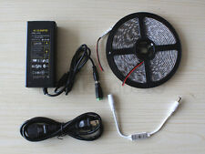 5M 300LED SMD 5050 Water proof Flexible Strip Light+mini Remote+Power Supply US