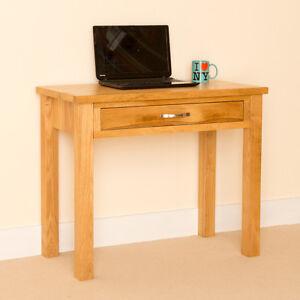 Newlyn Oak Small Desk Oak Laptop Desk Light Oak Hall