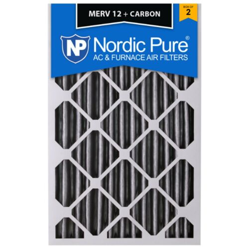 20x25x4 Air Filter Carbon Furnace Merv 12 Bulk Pack Nordic Pure 11 Pleated