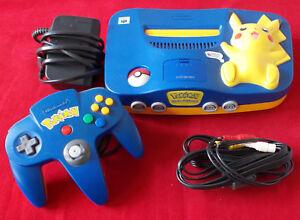 Nintendo-64-N64-Pokemon-Pikachu-Edition-Blau-Spielekonsole-TOP