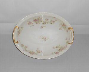 Antique-Limoges-France-Theodore-Haviland-Pink-Roses-Oval-Vegetable-Bowl