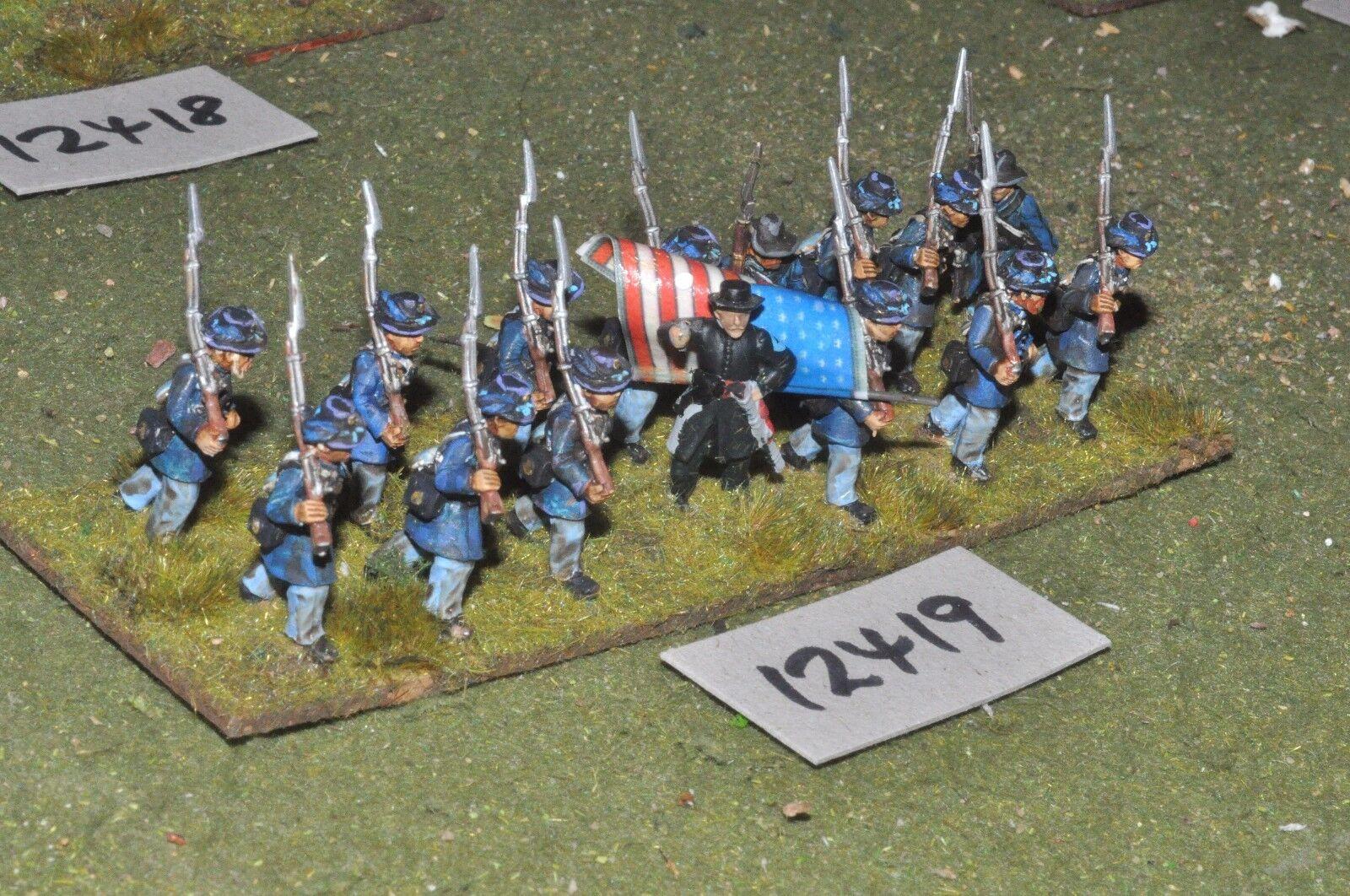 25mm ACW   union - american civil war infantry 15 figures - inf (12419)