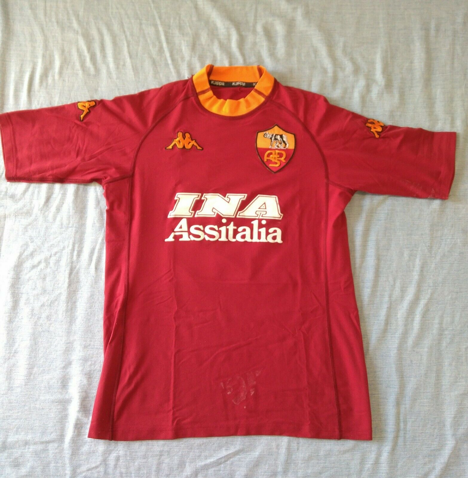 AS Roma football jersey maglia 2000/01 Vintage Kappa Batistuta Size M