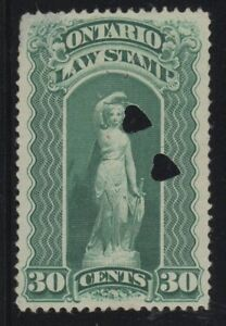 MOTON114-OL50-Law-stamp-Ontario-Canada-used-cv-100