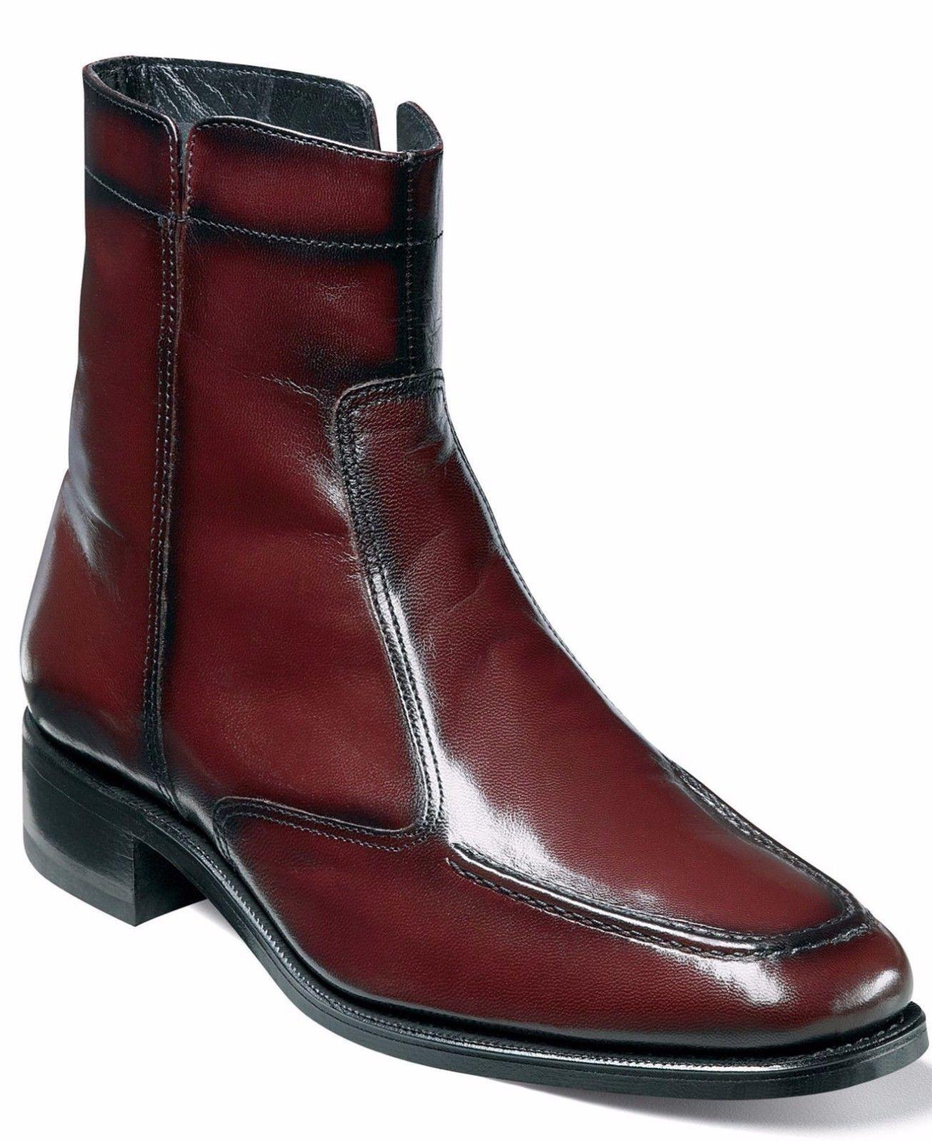 Florsheim para Hombre de Cuero Negro Cereza Essex Cremallera lateral Bota de tendencias de vestir Informal