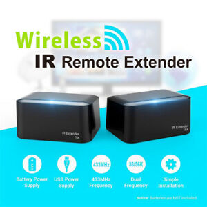 Wireless-IR-Remote-Extender-Repeater-HDMI-Transmitter-Receiver-Kit