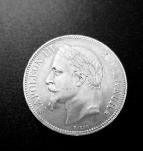 5-Francs-Napoleon-III-tete-lauree-Second-Empire-Argent-1867-BB-KM-799-2