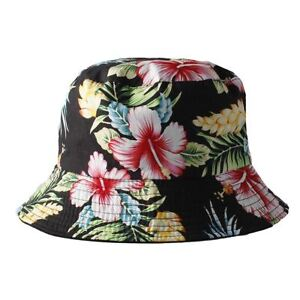 Women s Black Reversible Bucket Hat with Multi Colour Floral Print ... 6d8ac70250e