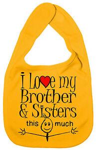 BABERO-034-I-LOVE-MY-BROTHER-amp-HERMANAS-This-Much-034-Lindo-Regalo-Nino-Nina