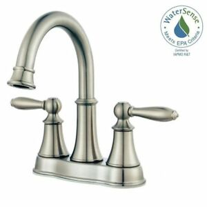 Pfister Courant Centerset 2 Handle Bathroom Faucet Brushed Nickel