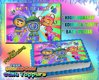 Stupendous 2 Team Umizoomi Birthday Cake Topper Edible Picture Image Sugar Personalised Birthday Cards Epsylily Jamesorg