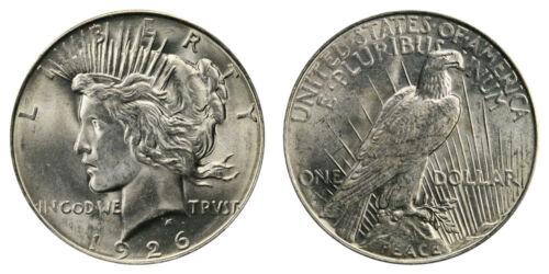 BU 1926-D Peace Dollar Brilliant Uncirculated