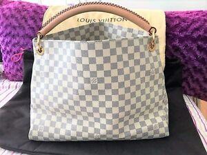 Authentic Louis Vuitton Damier Azur Artsy Mm Excellent Condition